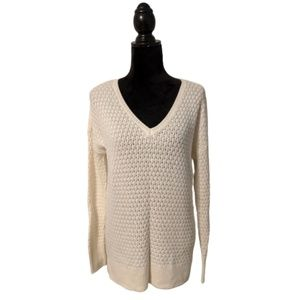 American Eagle Outfitters Cream Cable Knit Sweater